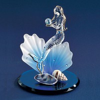 Glass Mermaid Figurine