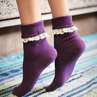 Free People Womens Rodeo Foldover Anklet - Purple One