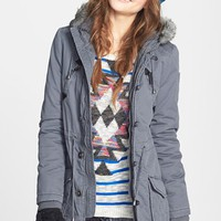 Sashimi Faux Fur Trim Anorak Jacket (Juniors) | Nordstrom