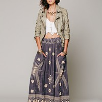Free People Womens FP New Romantics Sweet Nothings Maxi Skirt - Carbon,
