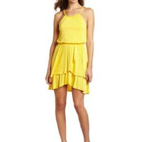 Wrapper Women's Racerback Tiered Skirt With Braided Belt Dress