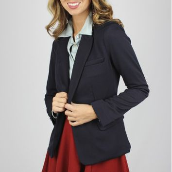 Navy Patch Blazer