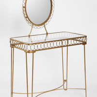 Plum & Bow Wire Loop Vanity- Gold One
