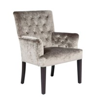 Lola Arm Chair - Pewter Gold | Dining Chairs | Dining Room | Furniture | Z Gallerie