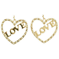 Love Heart Drop Earrings