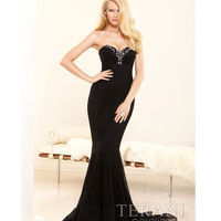 Terani 2014 Prom Dresses - Black Crystal Mermaid Silhouette Prom Gown