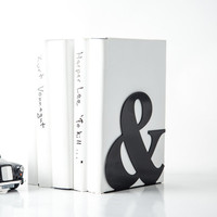 Bookend & black powder coated laser cut metal thick enough to hold books