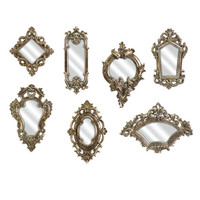 Loletta Victorian Inspired Mirrors Set Of Seven Imax Arched & Crowned Mirrors Home Decor