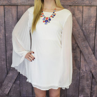 Hocus Pocus White Bell Sleeve Dress
