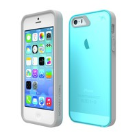 Tech Armor Apple iPhone 5S TURQUOISE/GREY FlexProtect Case