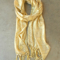 Sparkling Golden Lurex Knit Scarf [3518] - $10.00 : Vintage Inspired Clothing & Affordable Dresses, deloom | Modern. Vintage. Crafted.