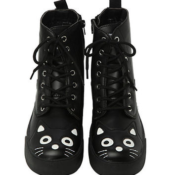 T.U.K. Black Kitty Sneaker Boot