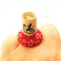 Kawaii Green Tea Ring Miniature Japanese Food by SouZouCreations