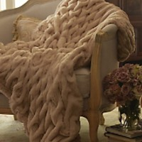 Paris Faux Fur Throw - CAMEL