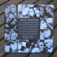 """Personalized Sister Gift, Maid of Honor Picture Frame, Custom Collage Bridesmaid Frame, Best Friends Gift Frame, Parent Gift, 8"""" x 8"""""""