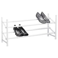 The Container Store > White 2-Tier Adjustable Shoe Rack