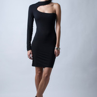 Black Cocktail Dress - The Snake - Donation to UNICEF - Model 88