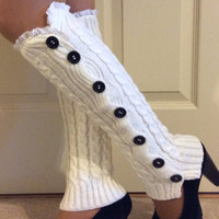 Modern Winter Warm Knitted Women Girl Knit Crochet Leg Warmers Boot Topper Socks