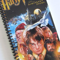 HARRY POTTER Notebook Journal Upcycled Spiral Notebook Recyled Earth Friendly Made From An Actual VH | Luulla