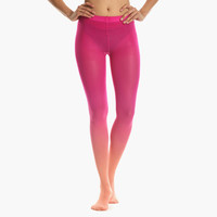 Women's Flamingo Ombre Tights (Pink)