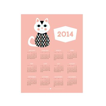 2014 Cute Mod Cat Calendar | BRIKA - A Well-Crafted Life
