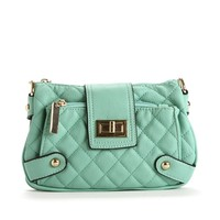 Mint Turn Lock Crossbody Bag