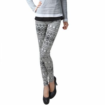 Black & White Tribal Print Leggings