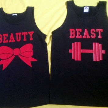 Free Shipping for US Beauty And The Beast Couples Shirts Different Version