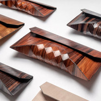 Wood Clutch by Tesler + Mendelovitch for Tesler + Mendelovitch - Free Shipping