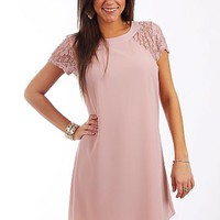 The Anabelle Dress, Dusty Pink