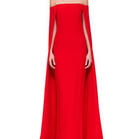 Ralph Lauren Collection Audrey Cape Evening Gown