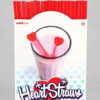 Heart Straw - Pack Of 20 - Urban Outfitters