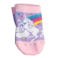 Unicorn Pink & Purple Baby Booties