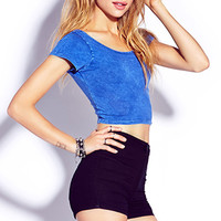 Must-Have Mineral Wash Crop Top