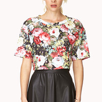 Rich Roses Crop Top