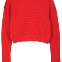 Knitted Rib Textured Jumper