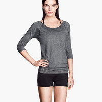 H&M - Yoga Top - Dark gray - Ladies
