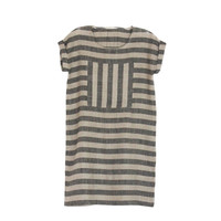 rennes — Enkidu Dress - Natural and Black Stripes