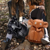 Lovely Elephant PU Backpack