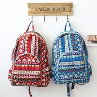 2014 Gothic Print Canvas Backpack