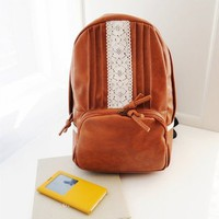 Vintage Lace Flower PU Backpack
