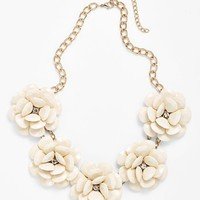 Stephan & Co. Flower Statement Necklace (Juniors) | Nordstrom