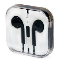 Zeimax Earbuds EarPods With Mic and Remote Earphone Headphone Compatible with Apple iPhone 3 4 5 5S 5C, iPad, iPod (Black)