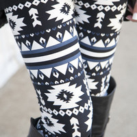 Navy Santa Fe Leggings