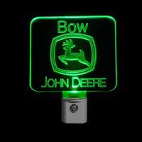 Personalized John Deere Night Light with Colored LED Lights
