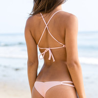 The Girl and The Water - Posh Pua 2014 - Malie Bikini Bottom Plumeria - $68