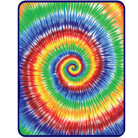 Rainbow Spiral Tie Dye Fleece Blanket on Sale for $29.99 at HippieShop.com