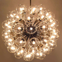 Monumental 75 light Chandelier by Lightolier