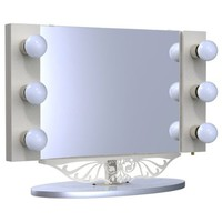 "Starlet Table Top Lighted Vanity Mirror 34"" - White"