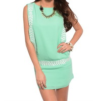 Mint Side Cut Out Dress